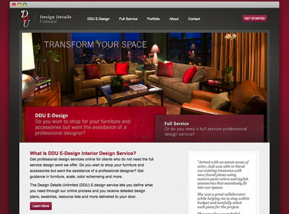 Design Details Unlimited website