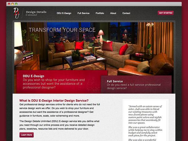 Design Details Unlimited website