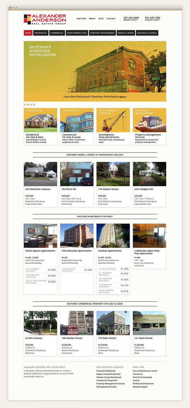 Alexander Anderson Real Estate Group website