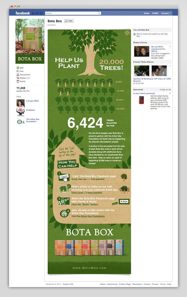 Bota Box Facebook Earthday app