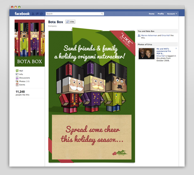 Bota Box Facebook nutcracker app