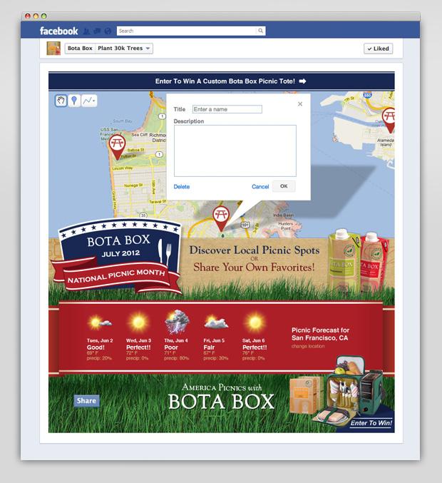 Bota Box Facebook picnic app