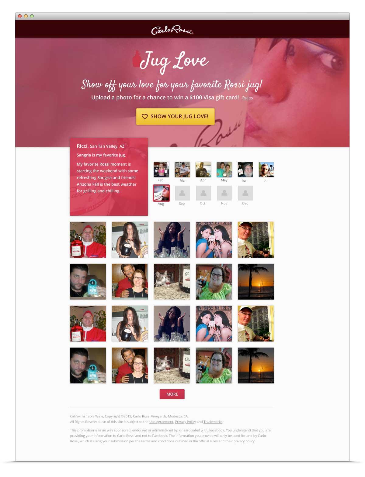 Carlo Rossi Jug Love campaign