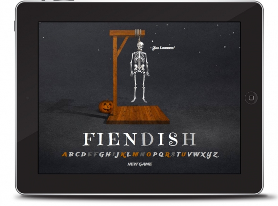 Halloween Hangman tablet