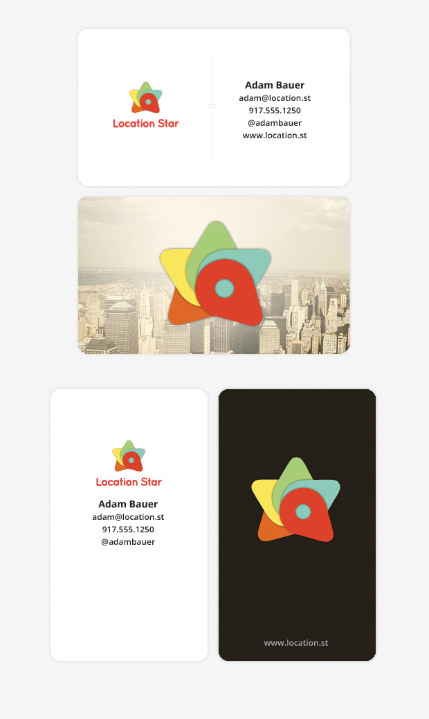 Location Star business cards