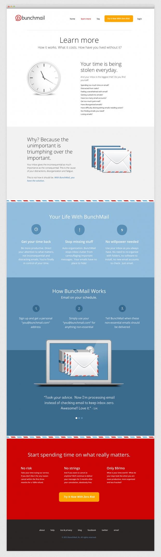 BunchMail website learn
