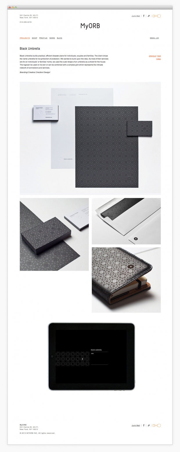 MyORB portfolio