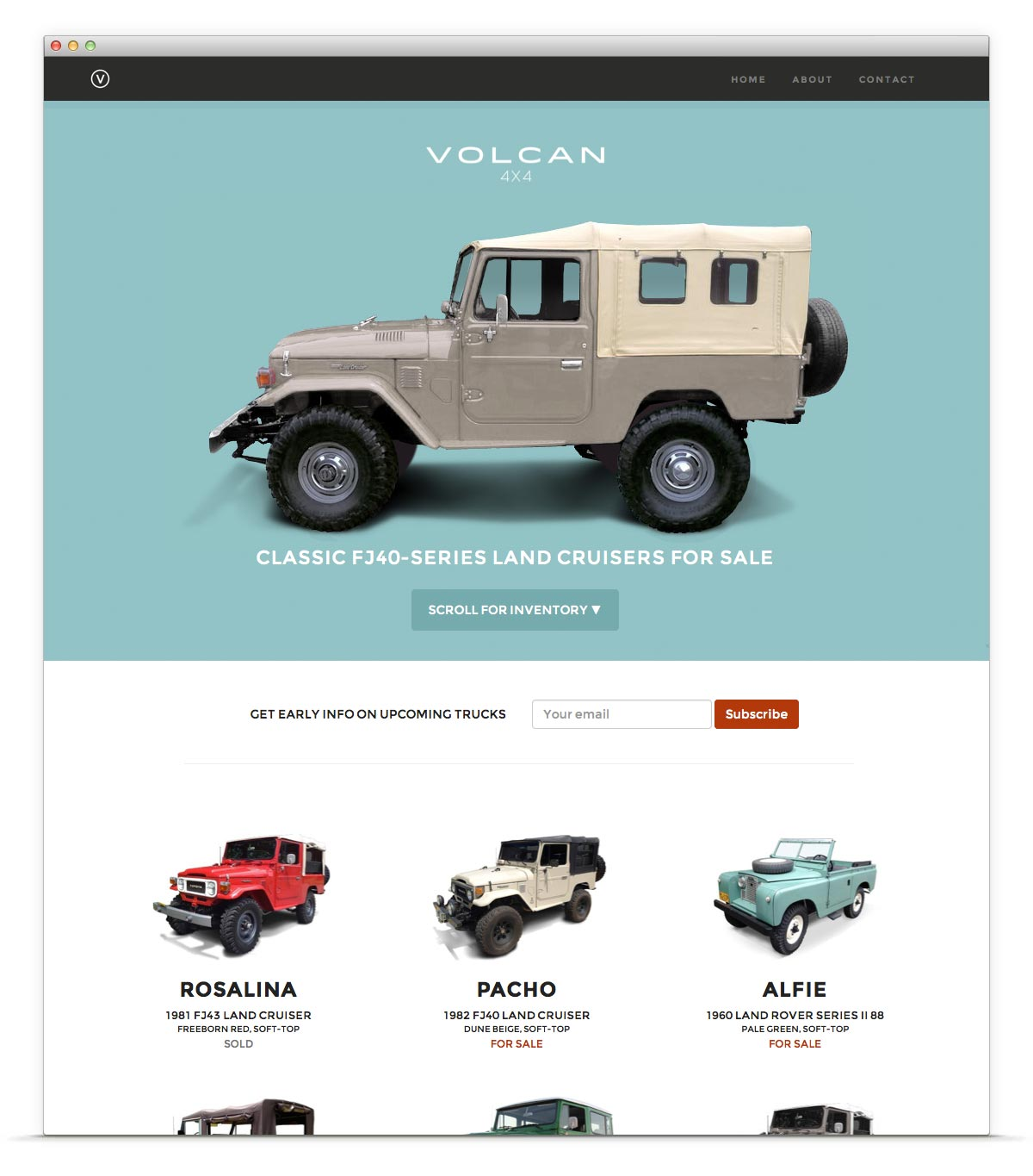 Volcan 4x4 web home