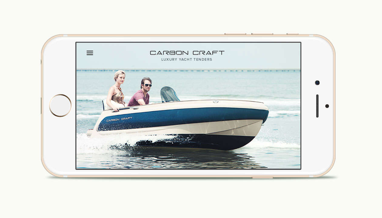Carbon Craft website mobile cruse