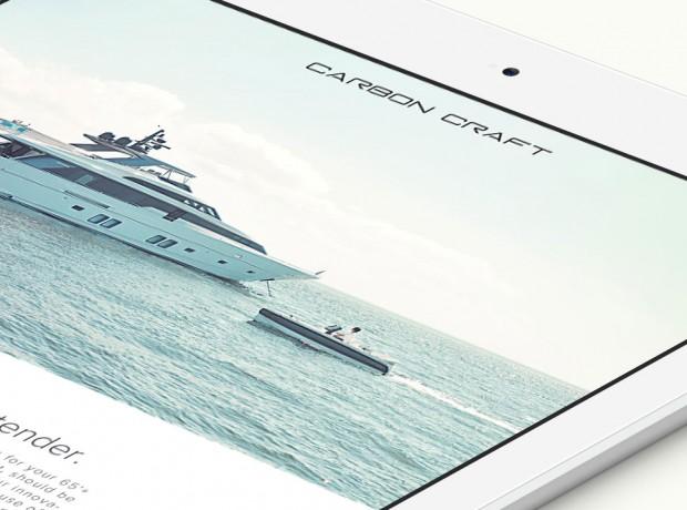 Carbon Craft website iPad